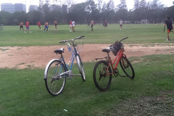 แม้นไปออกกำลังกาย ก็ยังใช้จักรยานช่วยนำพาไป