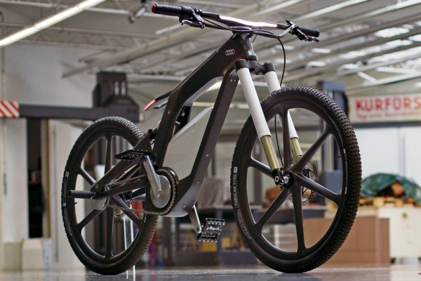 early prototype of the AUDI e-bike wörthersee for sports and trick cycling