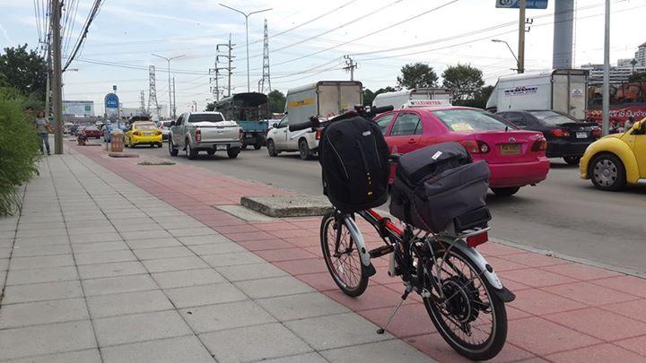 ตำแหน่งการวางเป้แขวนบนแฮนด์จักรยาน