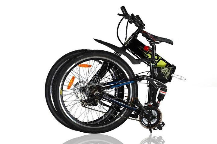 จักรยานไฟฟ้าพับได้เสือภูเขาล้อ 26 นิ้ว ขณะพับเก็บ
