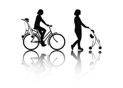 2in1 รถเข็นเด็กกับที่นั่งจักรยานเด็ก