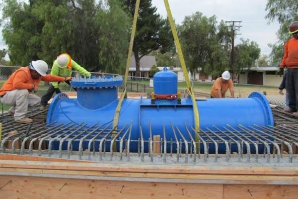 ระบบท่อน้ำประปาที่ติดตั้งเครื่องกำเนิดไฟฟ้า